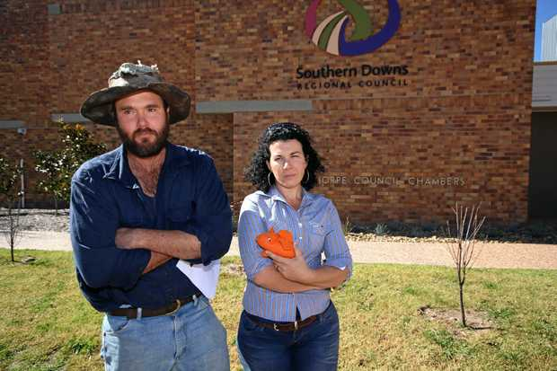 Tim Rudduck and Belinda Marriage have slammed the Southern Downs Regional Council's decisions to allow explosives disposal near their property.