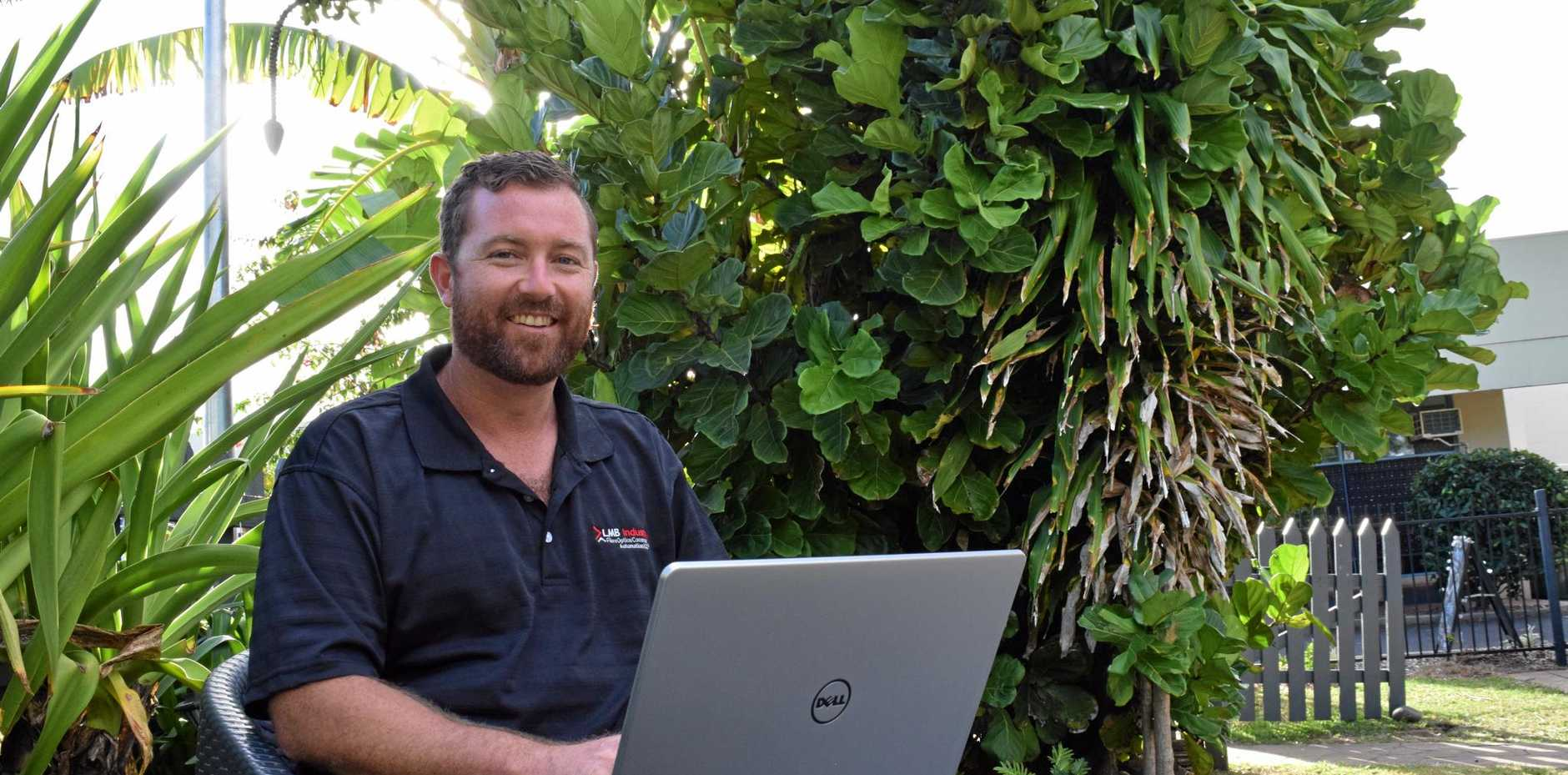 PROBLEM SOLVER: Luke Baker believes he can offer a better alternative to the internet providers currently serving Bargara.