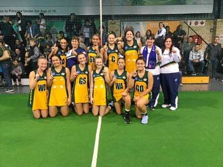 The Australian 14 years indoor netball team that won two tournaments in South Africa.