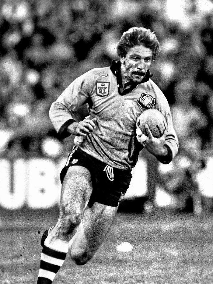 Brett Kenny on the fly for NSW in 1986.