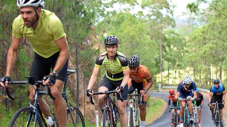 Lucy Coldwell in action at the Sunshine Coast Cycling Club Rosemount Road Race.