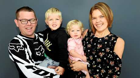 Maryborough's Zoe Molloy lost 52kg and has returned from being selected for a The Healthy Mummy makeover.  Husband Peter and children Ethan and Evelyn see the makeover for the first time.