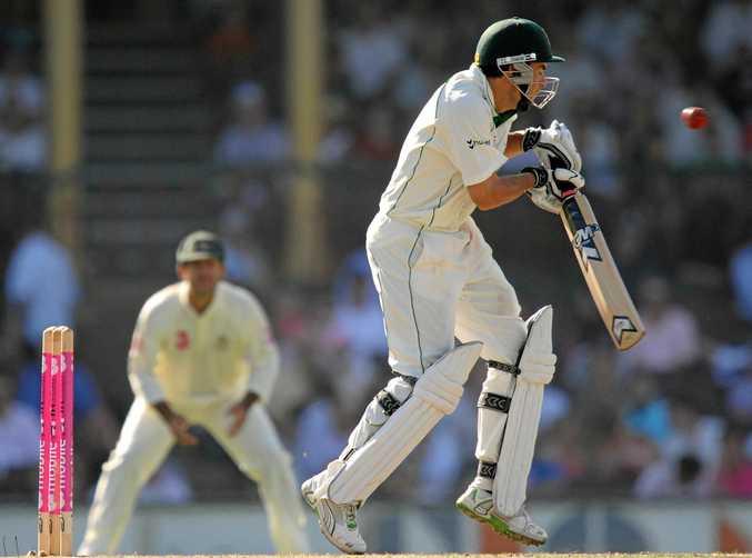 South African batsman Neil McKenzie on the hop against against Australia in 2009.