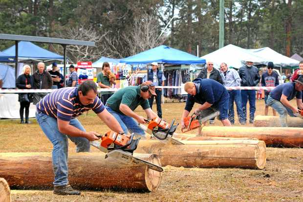 MILLIMETRE PRECISION: Fence post splitting has become one of the favourite attractions at the woodchop and will again be front and centre at the Glenreagh Timber Festival this weekend.