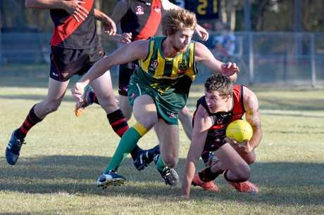 AFL, Hervey Bay - Hervey Bay Bombers versus Maroochydore - Ryan Duke.
