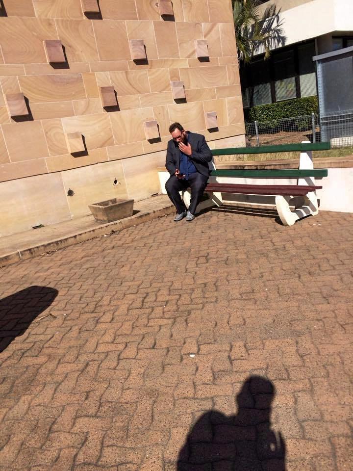 Christin Anderson outside Bundaberg Court House.