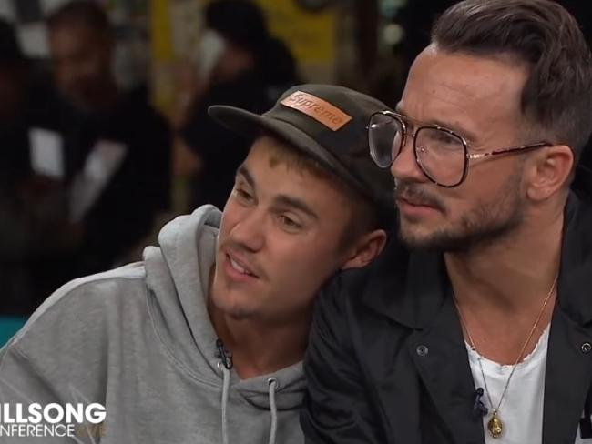 Video still of Justin Bieber during an interview at the annual Sydney Hillsong Church Convention at Sydney Olympic Park. Picture: YouTube/Hillsong ChannelSource:YouTube