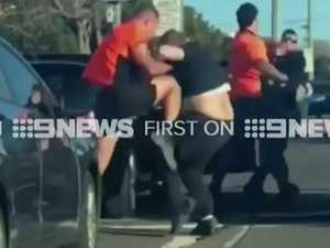 Ugly road rage brawl