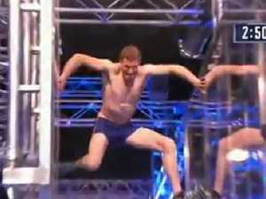 "Ben powers through new obstacle, ""the spider jump"".Source:Channel 9"