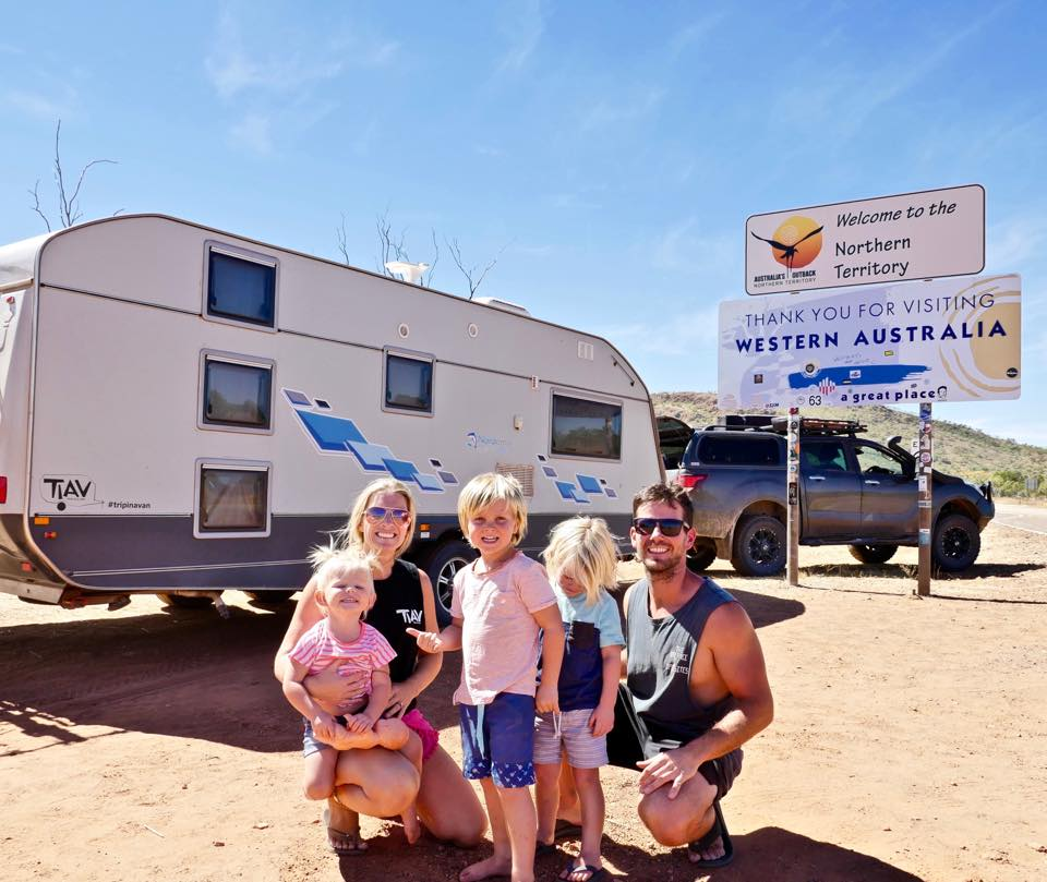 Justin Lorrimer, of Burpengary, who is travelling the country with his family in a caravan.