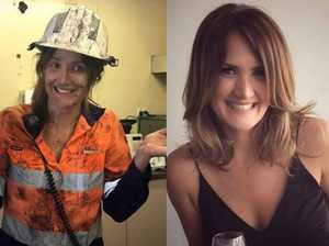Cobie on the job at a Moranbah mine site and dressed up for a night on the town