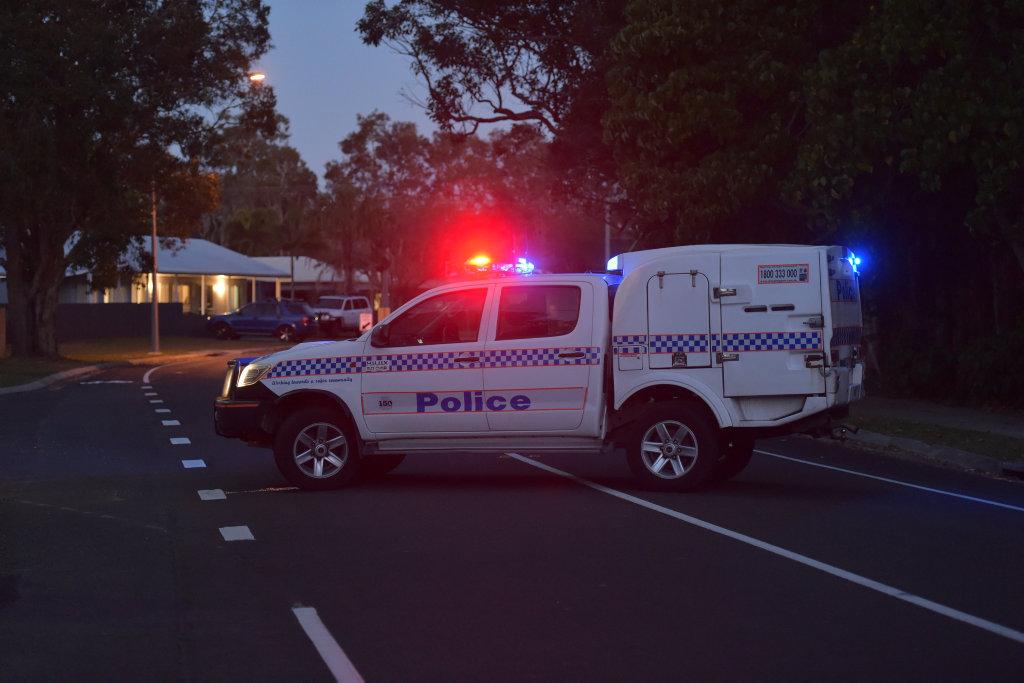 The residential street at Coolum Beach is closed in both directions.