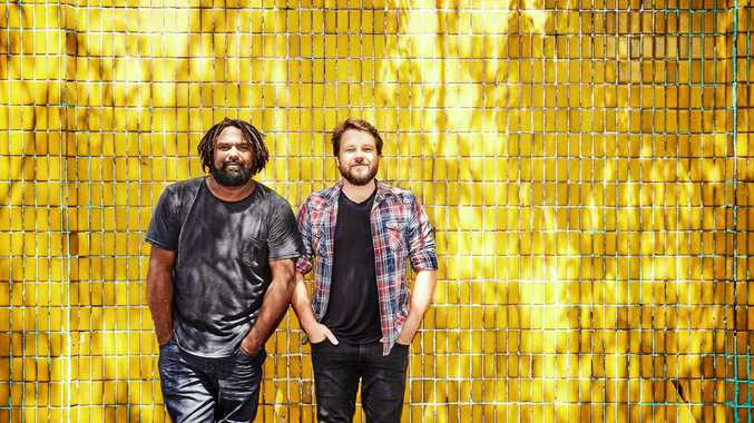 DYNAMIC DUO: Jeremy Marou and Tom Busby of Busby Marou, who will perform at the Racehorse Hotel this Saturday night.