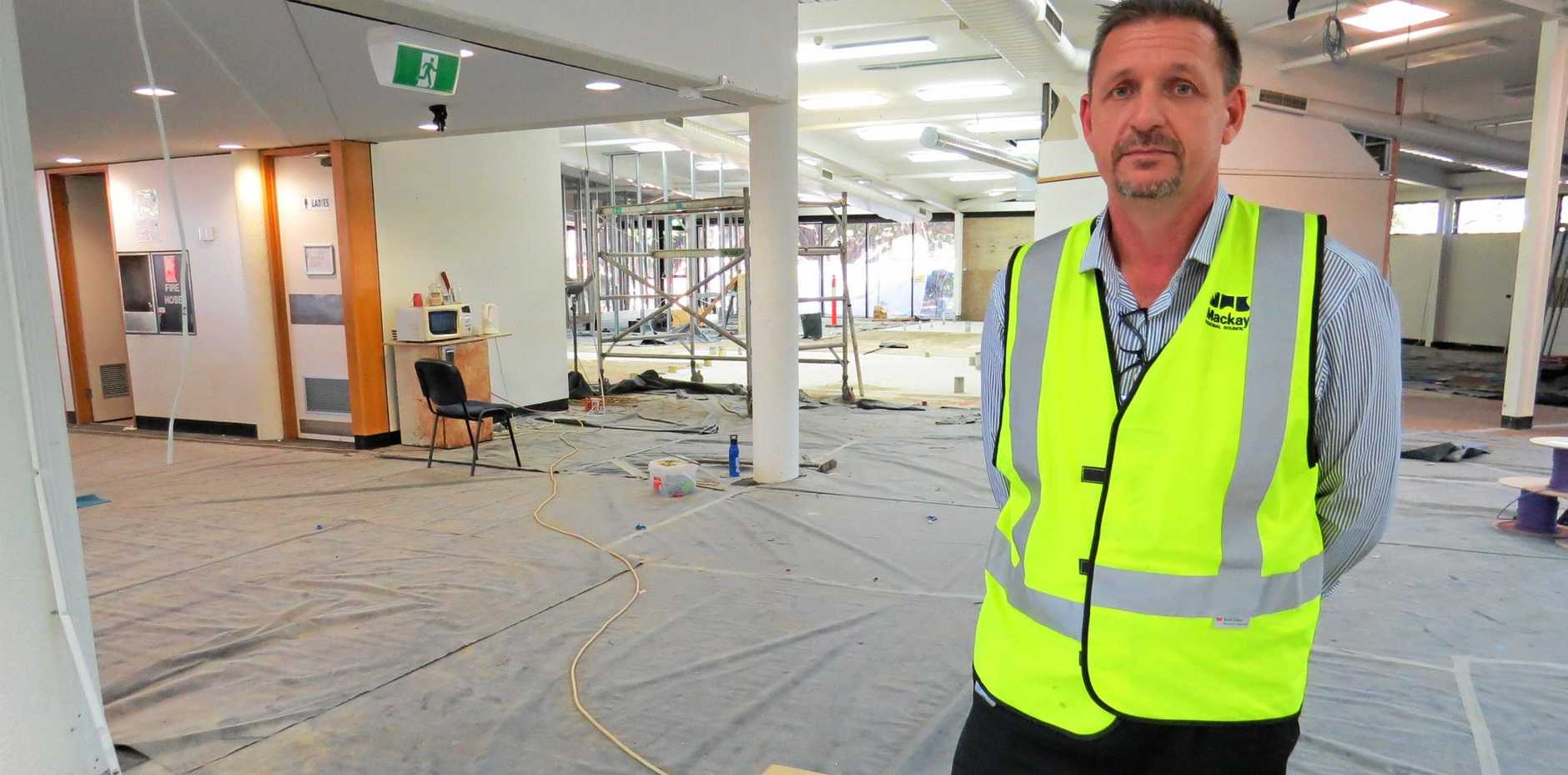 Manager of the refurbishment of the old Mackay library, Erik Oosterbroek.