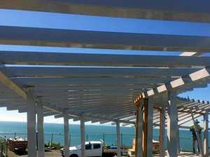 Whale-watching pavilion nears completion