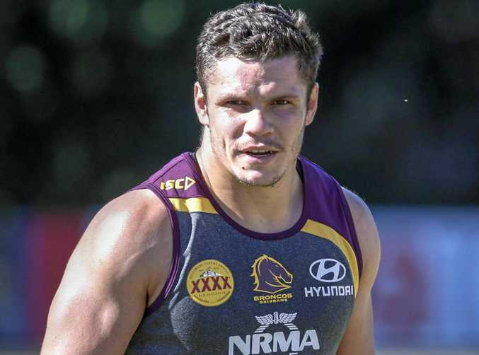 James Roberts of the Broncos during a training session in Brisbane.