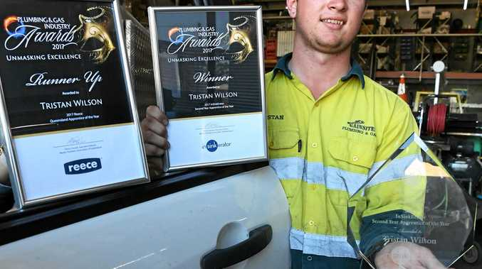 BEST IN BUSINESS: Tristan Wilsom is the Master Plumbers' Association of Queensland Second Year Apprentice of the Year.
