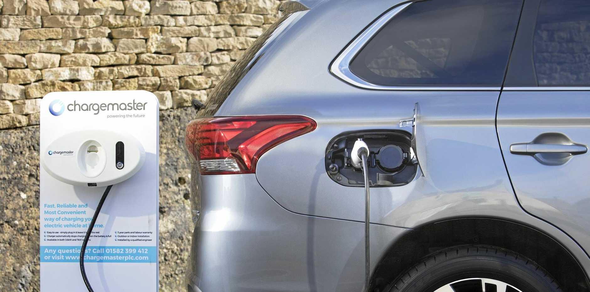 The 2017 Mitsubishi Outlander PHEV plug in hybrid.