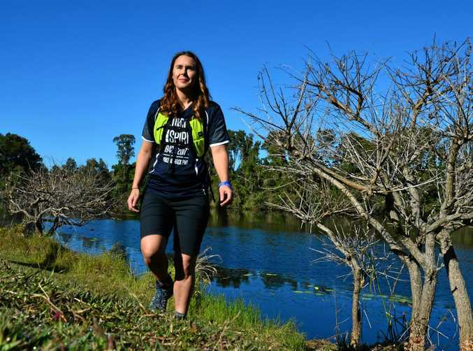 Kaitlyn Pobar is geared up to walk the Kokoda Track to raise funds for police mental illness.