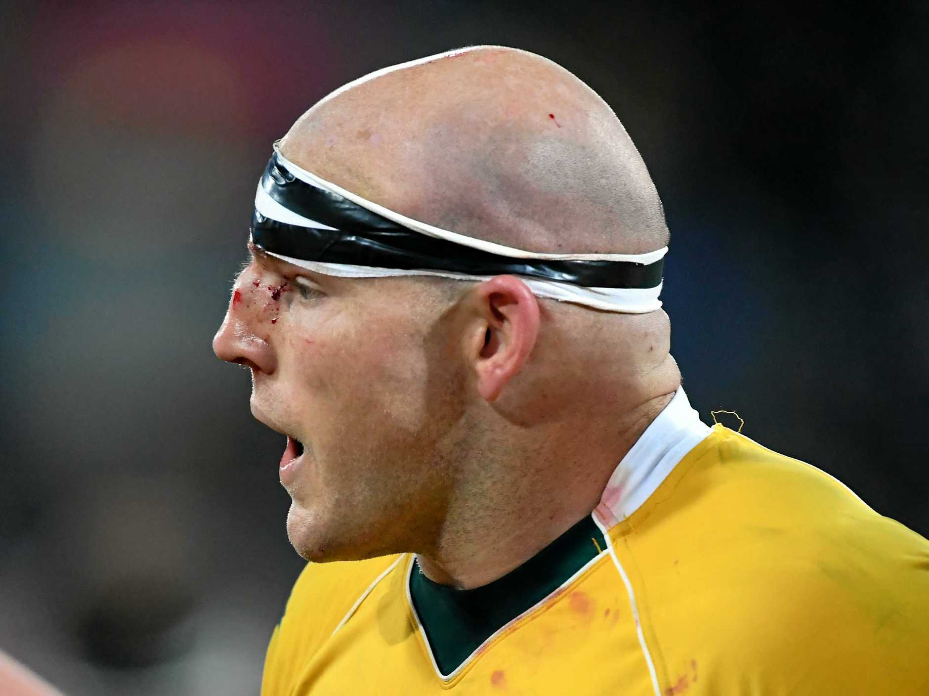 Australia's Stephen Moore during a Test match against New Zealand at Westpac Stadium in Wellington.
