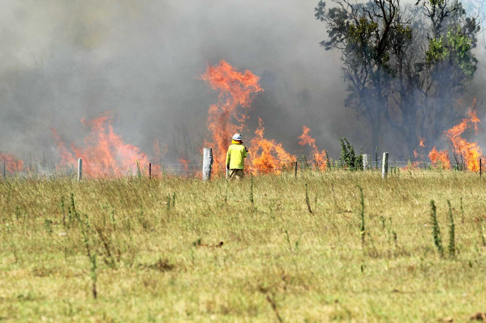 15 firefighters battled the Peachester blaze (file pic).