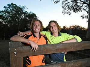 BRAVERY: Teens saved Brock after lightning strike