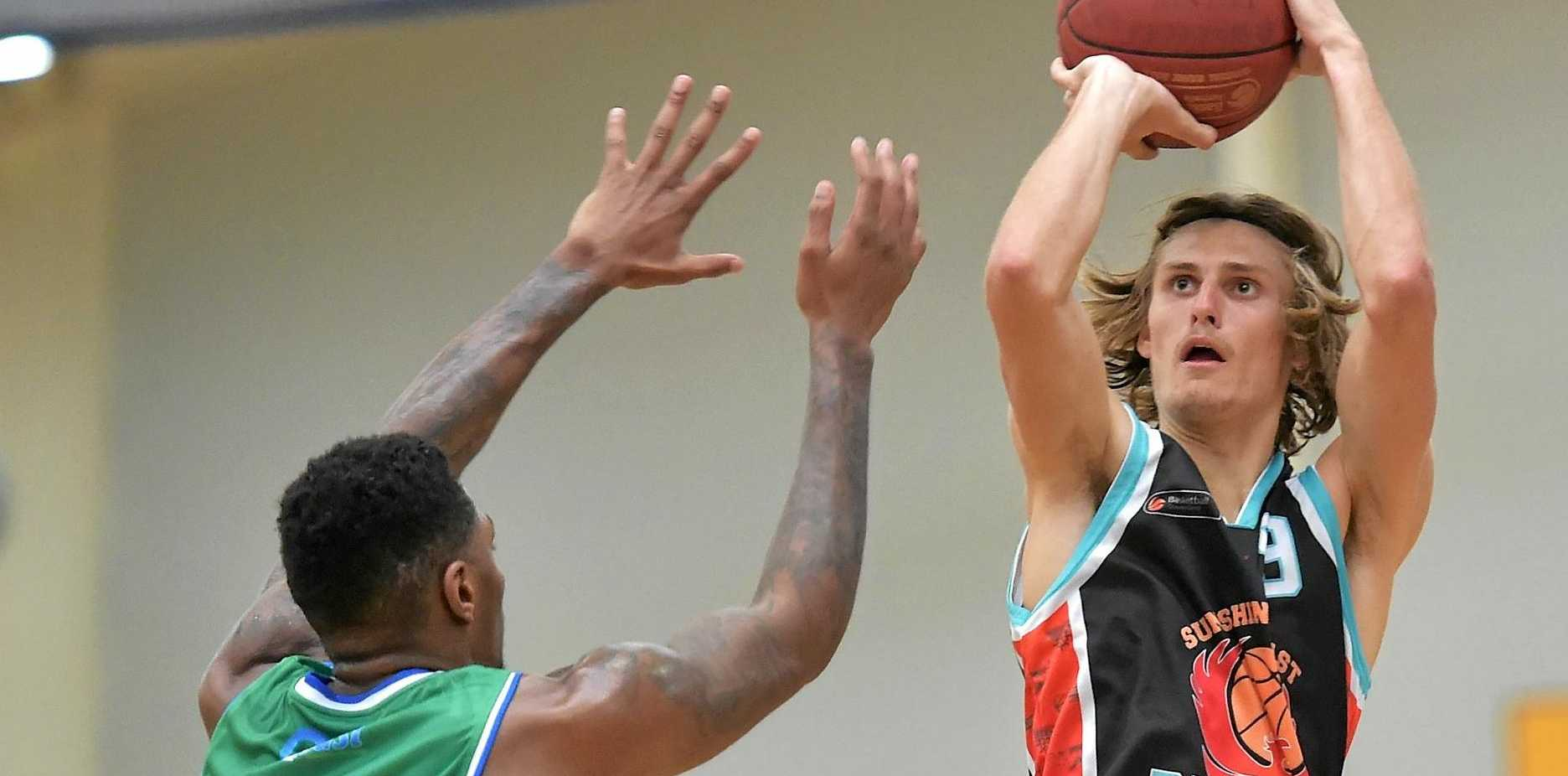 FIRE-UP: The Sunshine Coast Phoenix will look to finish the season strong as they travel to Rockhampton for Friday night's match.  Pictured is Phoenix player Matthew Kenyon.