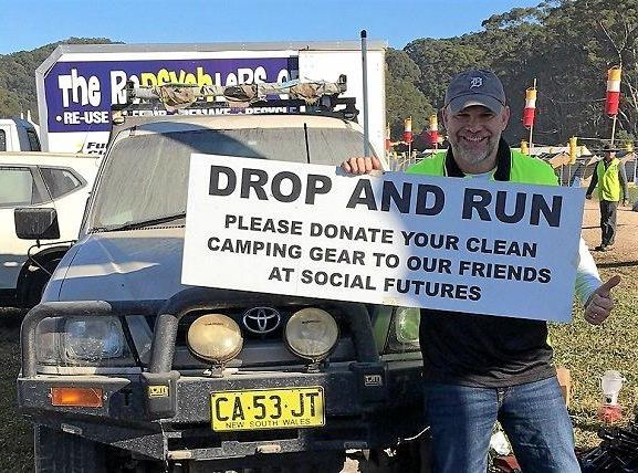 Punters urged to donate their clean gear to Social Futures to help the homeless.