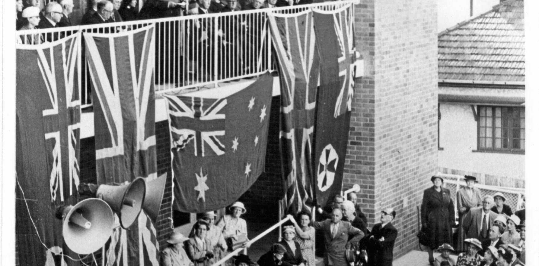 Hospital opening on 8 September 1957 by Archbishop Duhig.