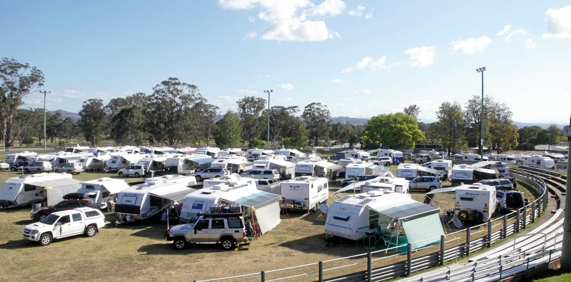 COMING TO TOWN: Over 50 members of the Australian Caravan Club (ACC) will be attending a joint three branch muster at the Sarina Showgrounds next month.