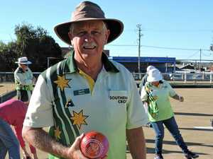 Geoff Davis with his colourful bowl.