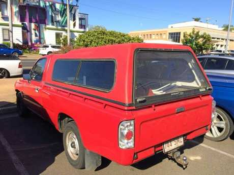 'HEAVY-HANDED' : A slap to the red ute of Christin