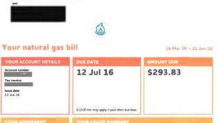 A $819.47 gas bill proved a shock for a Wagga Wagga resident.Source:Supplied