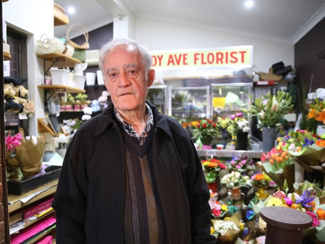 Emmanuel Theo Haris, the owner of the Eddy Avenue Florist at Central Station, said police were right to shoot a man who held a bottle to his throat. Picture: John Grainger