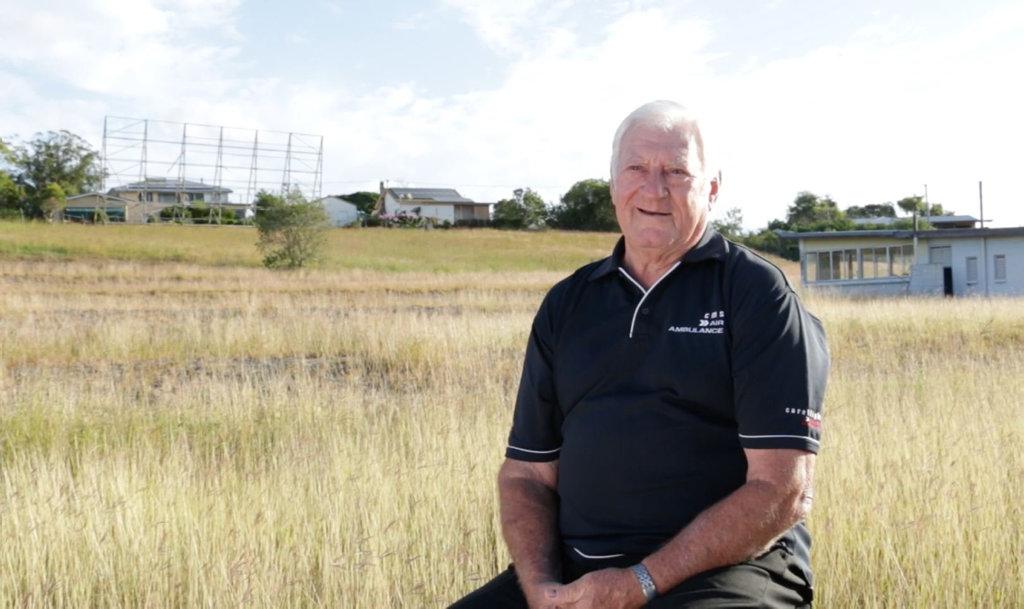 GOOD TIMES: Former Scottish Drive-in owner Mick Venardos at the old site at Monkland.