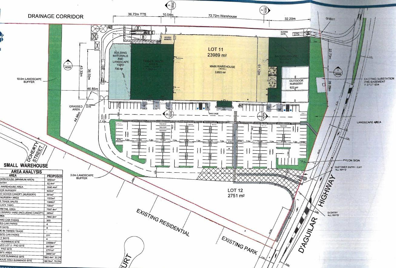 PLANS UNDER WAY: The proposed Bunnings development.