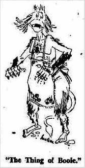 BOOIE: The Kingaroy Cave Monster depicted in the Sun-Herald in 1954.