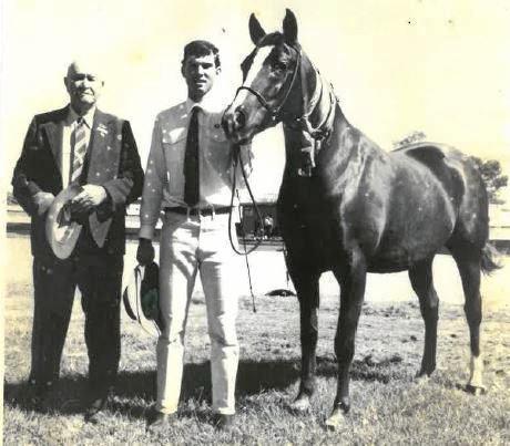 MYSTERY: Tony Perrett (right) pictured with his grandfather John Perrett.