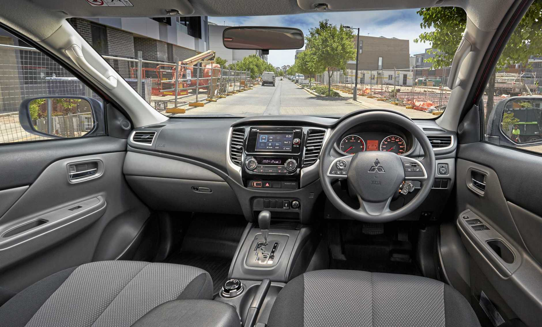 The 2017 model Mitsubishi Triton GLX+.