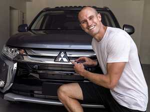 "Ryan ""Fitzy"" Fitzgerald with his Mitsubishi Outlander."