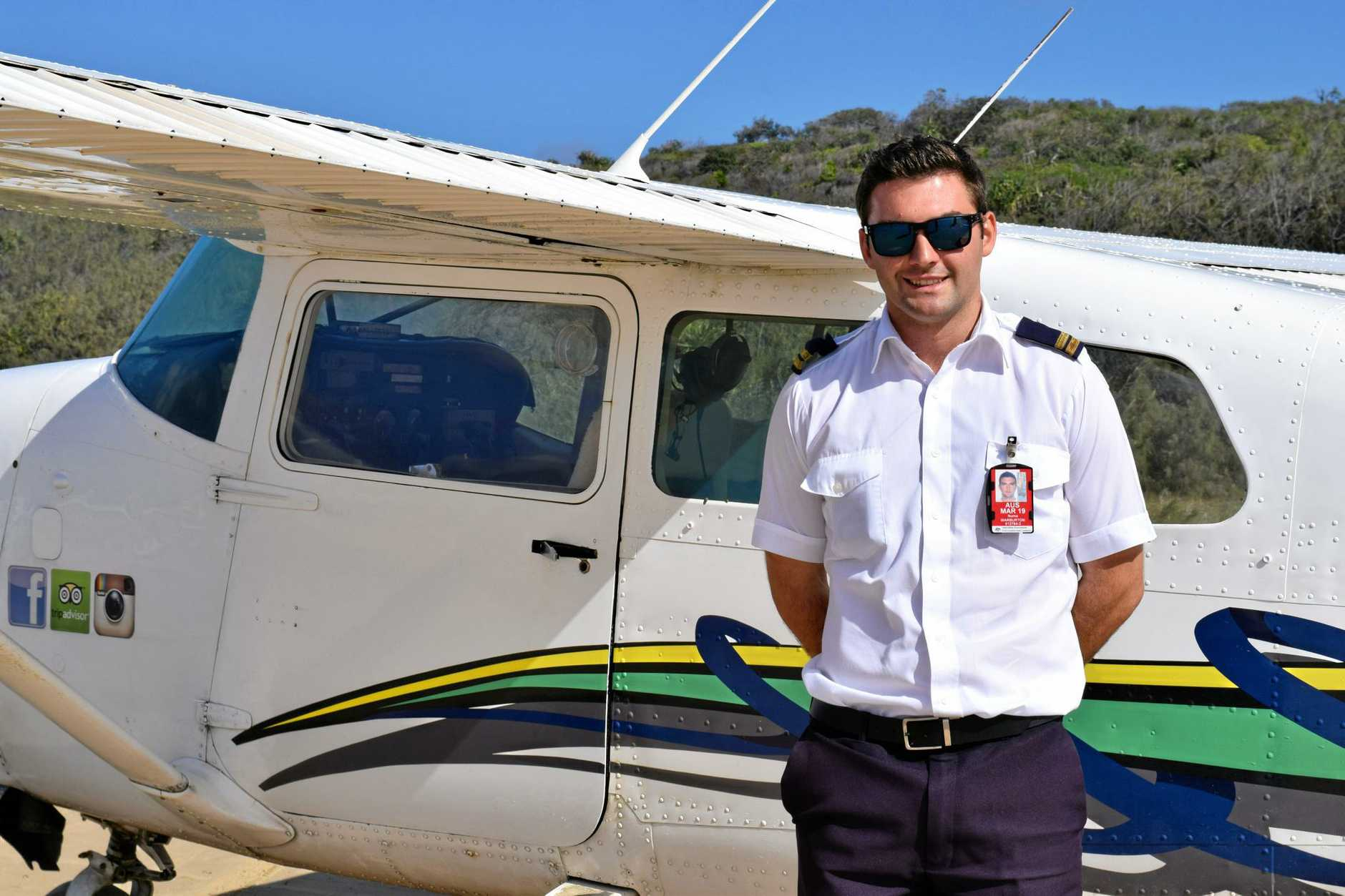 Numa Warburton is one of the pilots who takes tourists on thrilling, scenic flights over the island. Many passengers are lucky enough to spot whales in the right seasons.