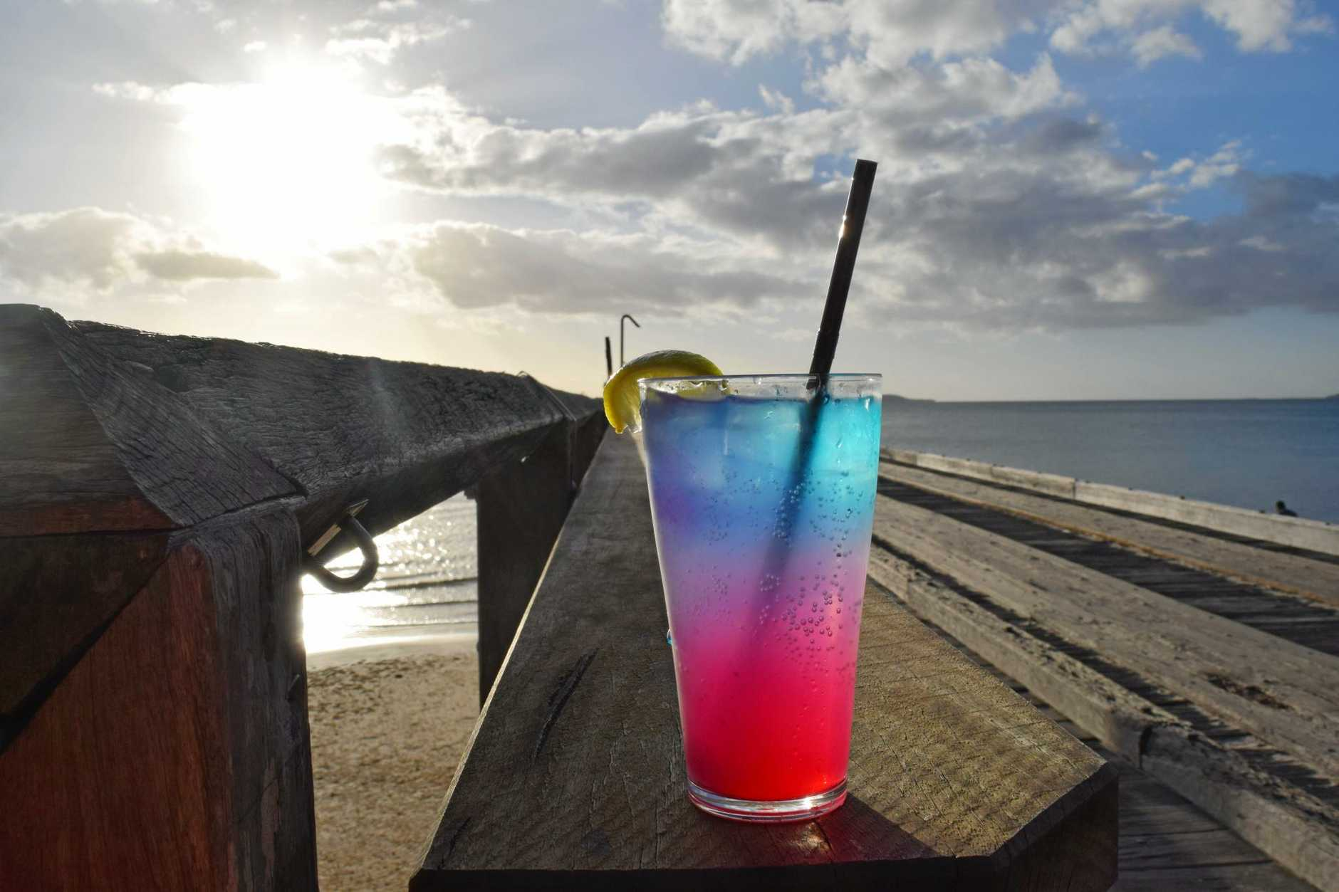 The violet sands  is one of the amazing cocktails on the island, served up at the Sunset Bar.