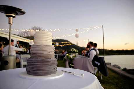 The pair held their wedding at the Volunteer Marine Club Whitsundays as they wanted to be by the water.
