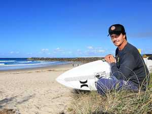 Title in his sights: Jay Phillips joins competitors in the Tweed for the 2017 Australian Surf Festival