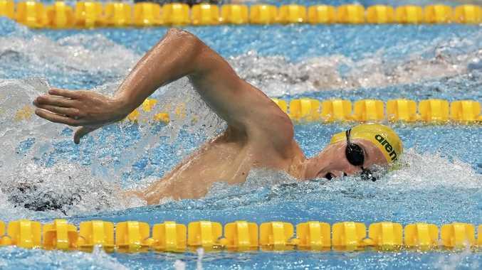 TITLE AIM: Australia's Mack Horton has his focus on the men's 1500m freestyle world title.