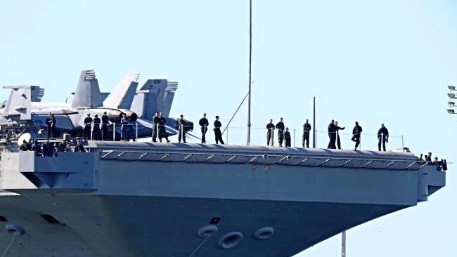 BOAT AHOY: USS Ronald Reagan in Brisbane for Talisman Sabre.