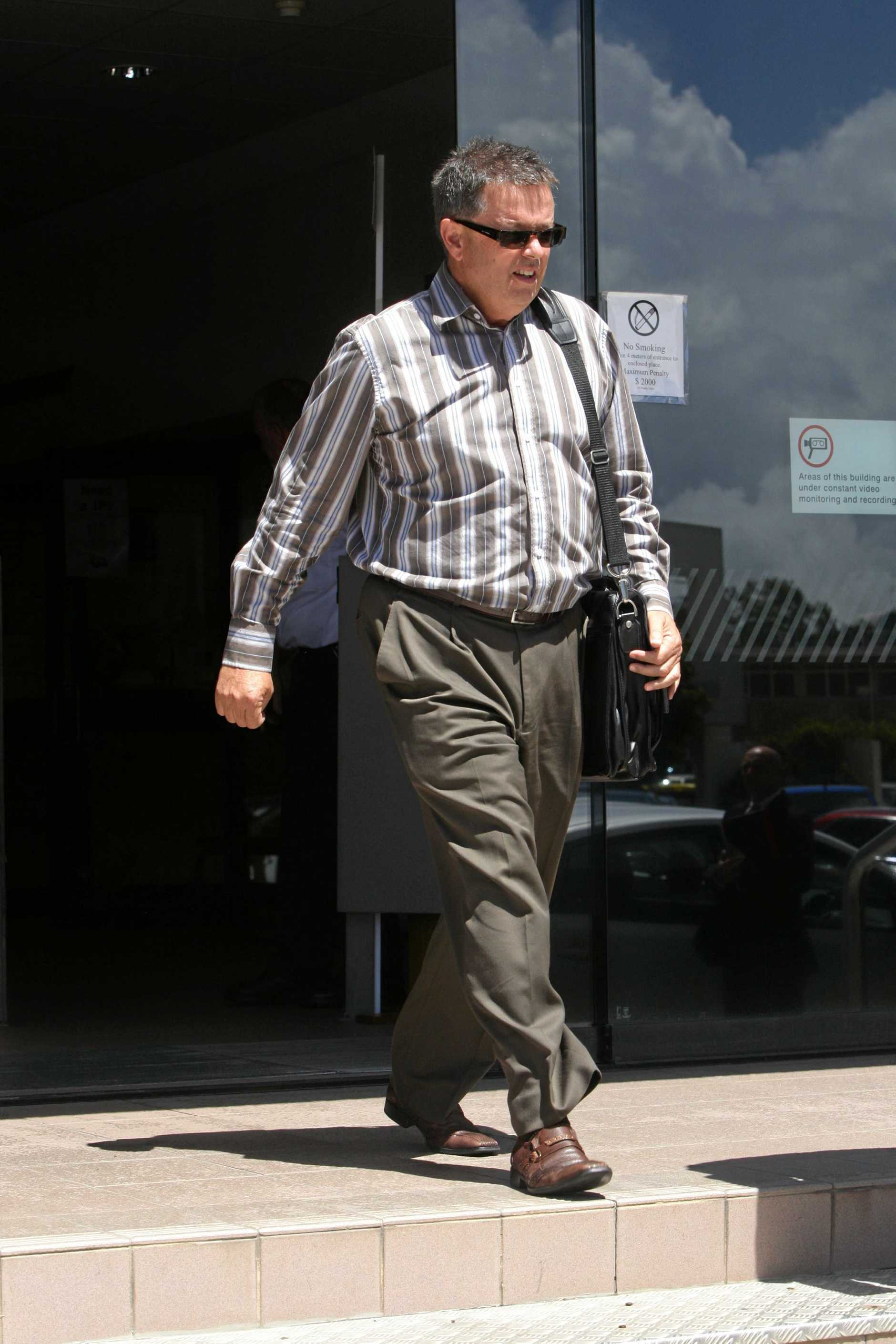 Andrew Young of Kleenmaid 1st court appearence. Photo: Kari Bourne / Sunshine Coast Daily