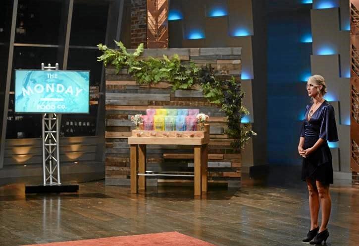Indi Sutton showcases her range of paleo granola on the Shark Tank.