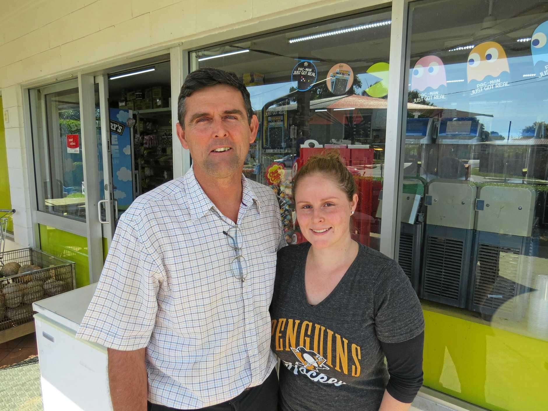 Chris Vella with daughter Rebecca.
