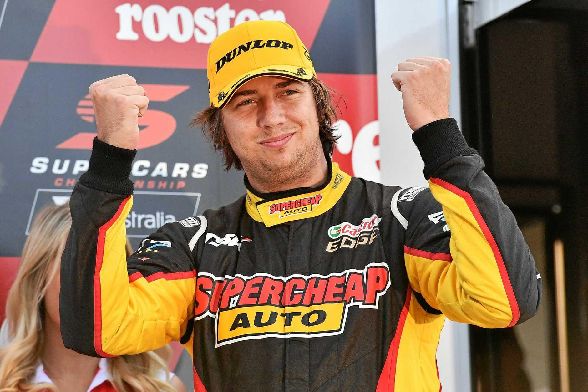 Chaz Mostert set a new lap record at Queensland Raceway.